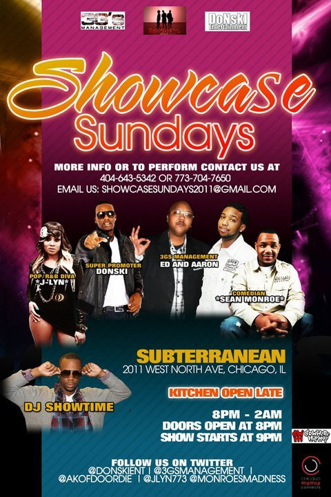 Showcase Sundays at Subterranean